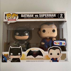 New Batman vs Superman pop heroes